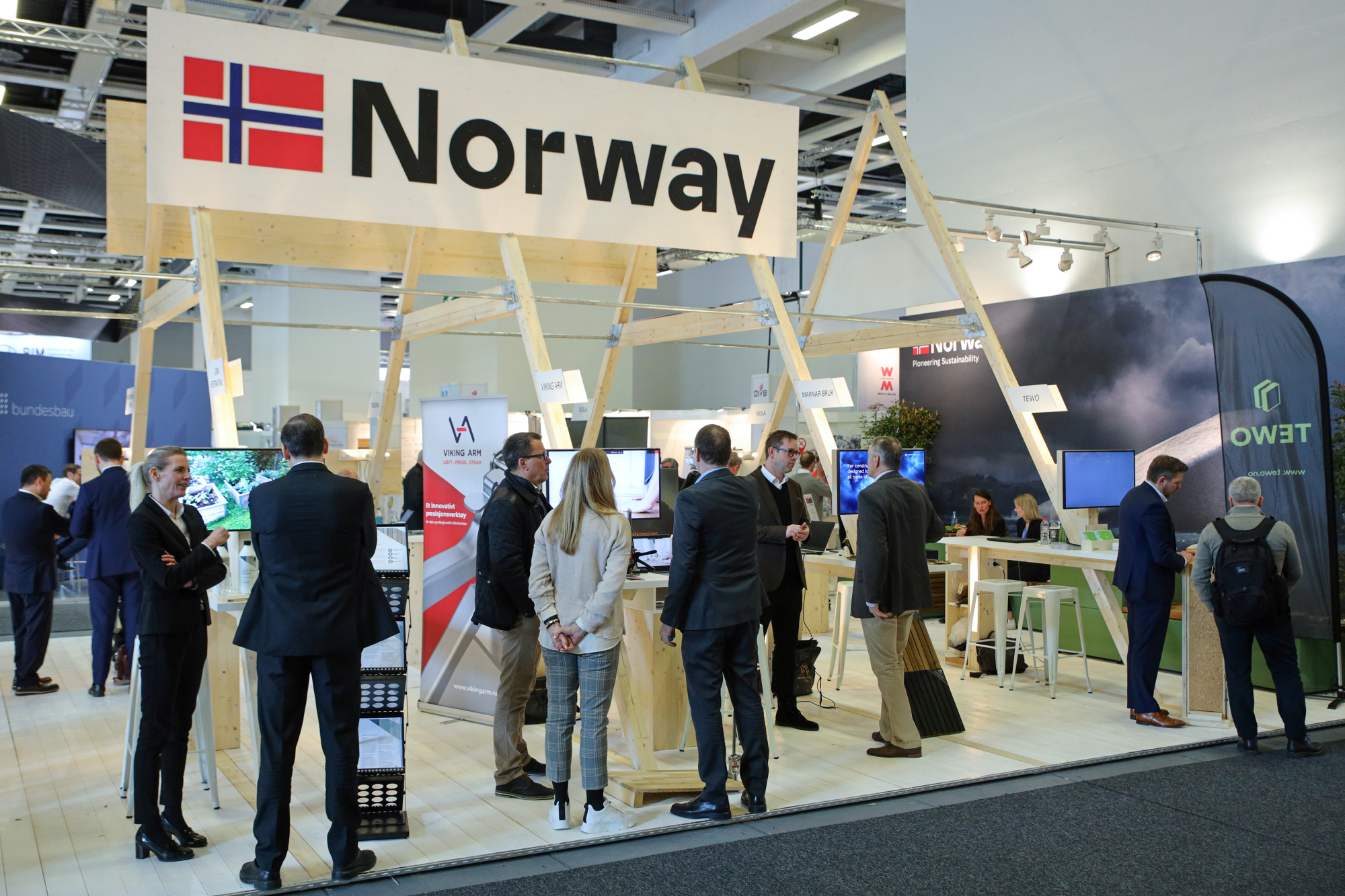 bautec 2020 Partnerland Norwegen *** Local Caption *** Partner Country Norway SALP Construction Deutschland komsol Controll innerseal