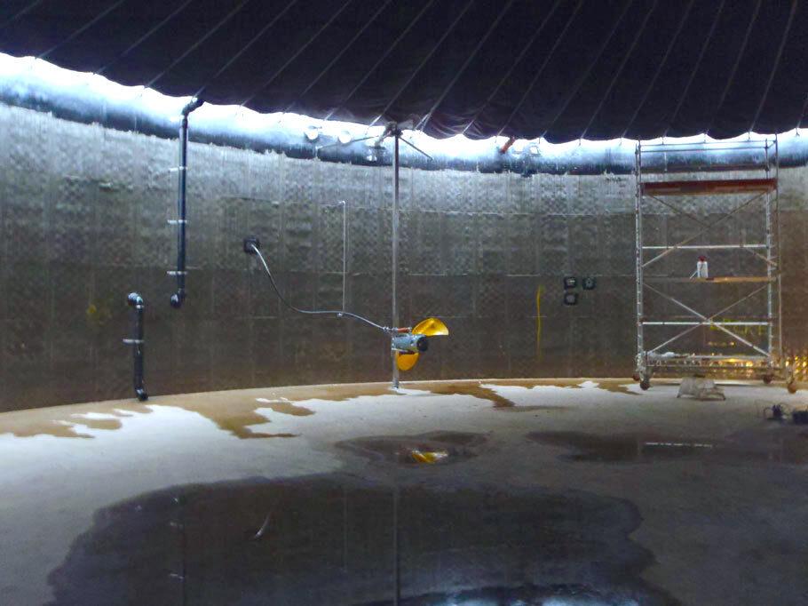 Biogas Messdorf Halle innen komsol controll innerseal plus partner SALP Construction Deutschland