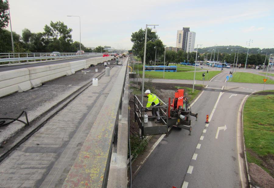 Gothenburg Hjalmarbranting Bridge Bruecken Boden versiegeln reinigen controll deepclean partner SALP Construction Deutschland