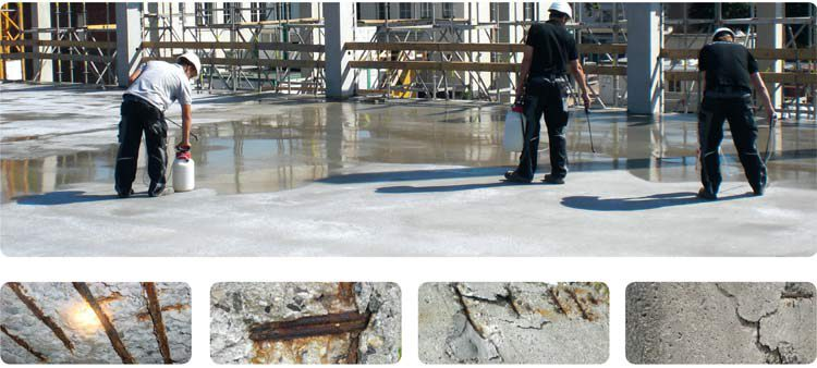 Schaeden beton korrosion komsol controll innerseal plus partner SALP Construction Deutschland Boden
