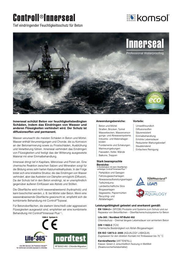 Innerseal Technisches Merkblatt Daten Produkt Controll komsol SALP Construction