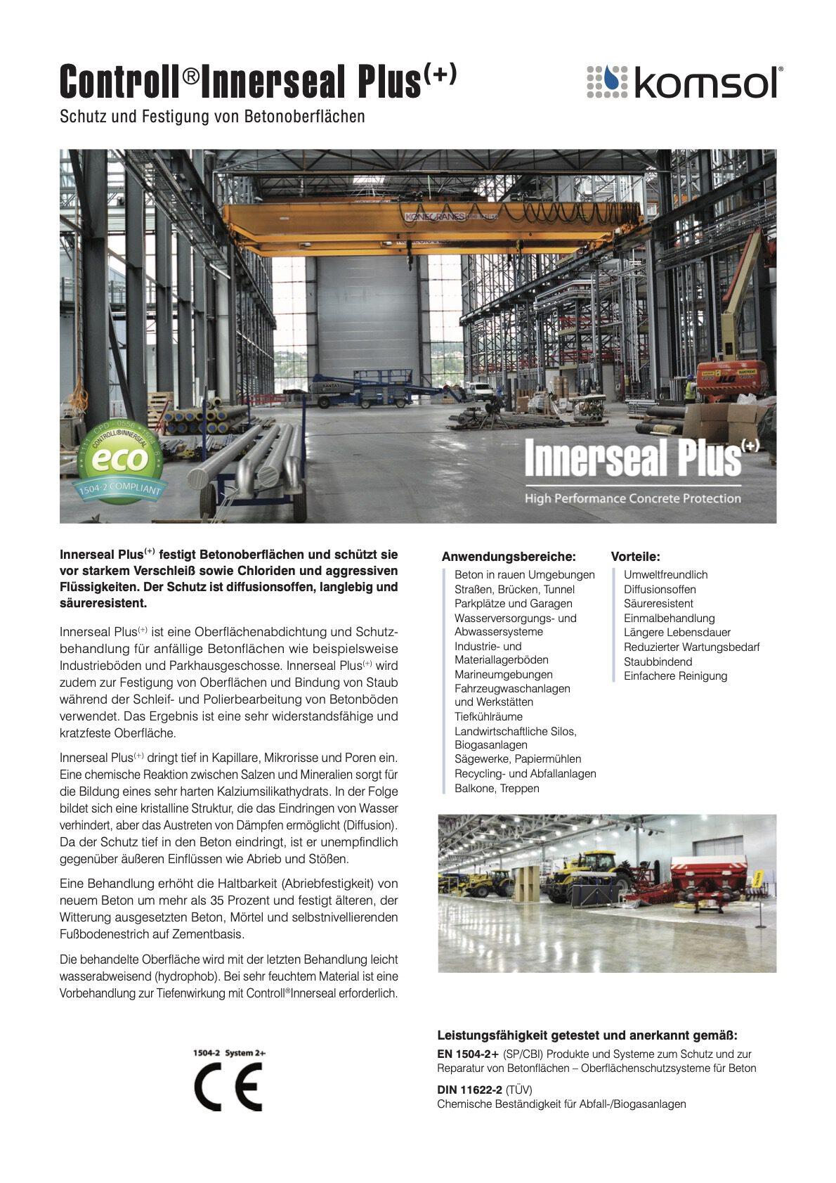 technisches datenblatt controll innerseal plus partner SALP Construction Deutschland