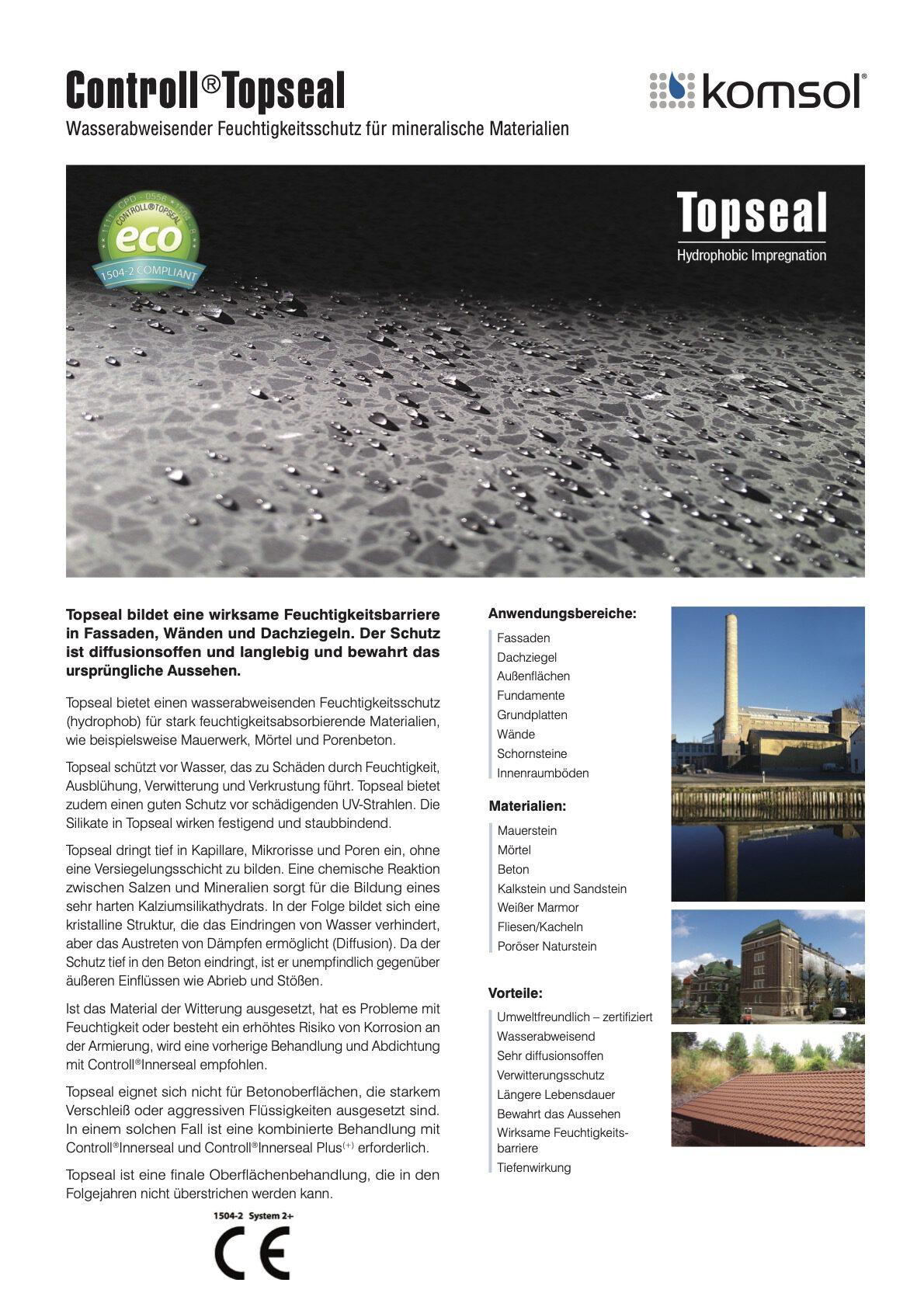 technisches datenblatt controll topseal partner SALP Construction Deutschland