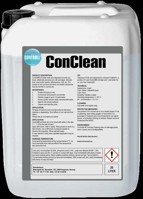 CONTROLL ConClean Produkt Kanister original Deutschland SALP Construction