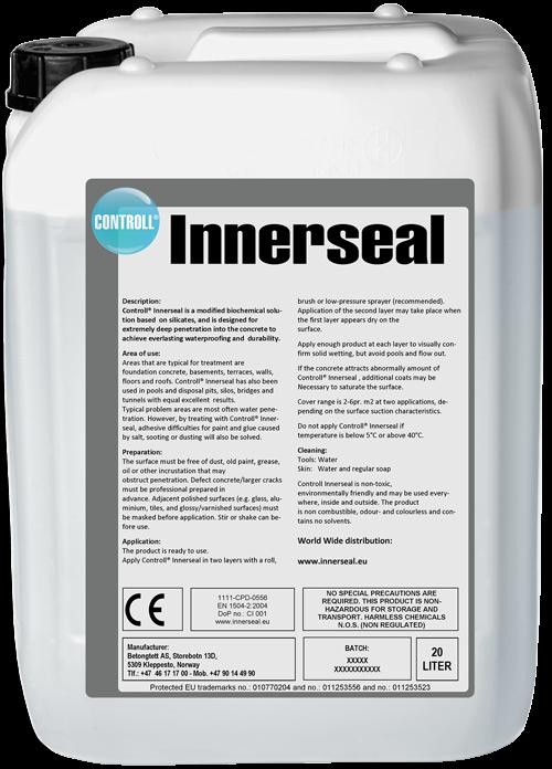 CONTROLL Innerseal Produkt Kanister original Deutschland SALP Construction