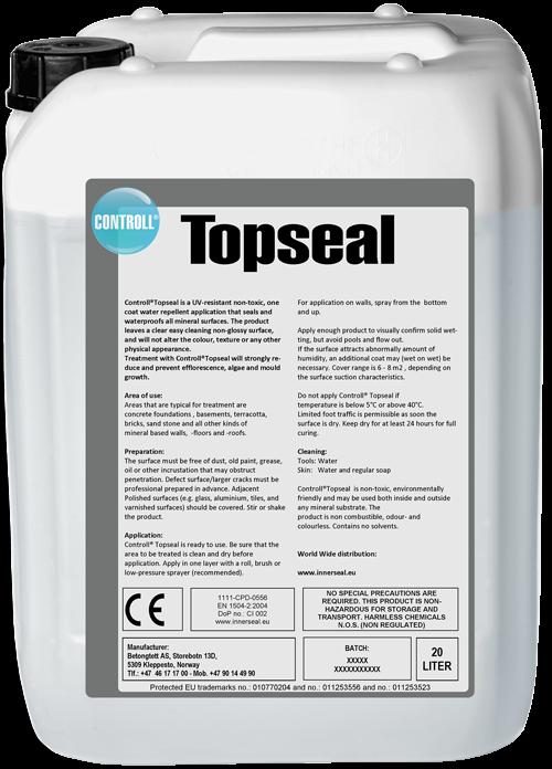 CONTROLL Topseal Produkt Kanister original Deutschland SALP Construction