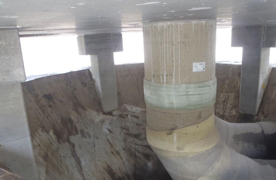 salp construction innerseal Abwasser Kanal klaeranlage versiegelt Absetzbecken Abwasserkanal Wartung unterirdisch