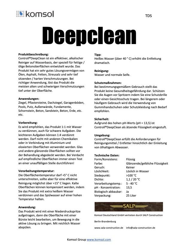 TDS Deepclean DE SALP 2018